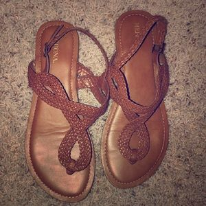 Cognac Merona Sandals - worn one time only!